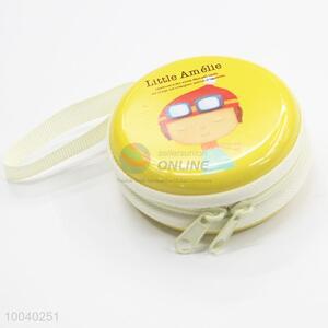 Cartoon pattern tin mini coin purse/earphone case