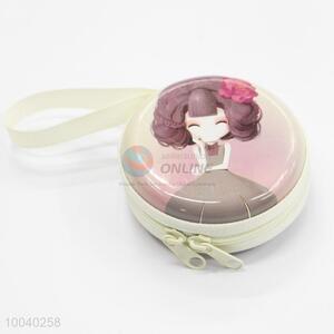 Elegant portable tin coin case/earphone bag