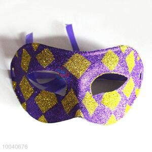 Purple masquerade halloween party glitter eye mask