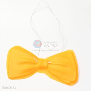 High quality golden color small size glitter pvc bow tie