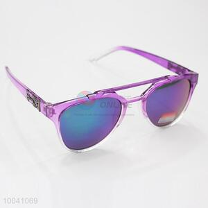 High quality purple frame sunglasses for young