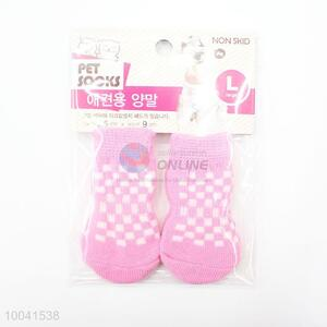 Hotsale 2.5*6CM Pink Good Quality Basic Pet Socks Dog Socks