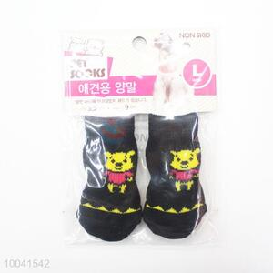 Hotsale 2.5*6CM Black Good Quality Basic Pet Socks Dog Socks