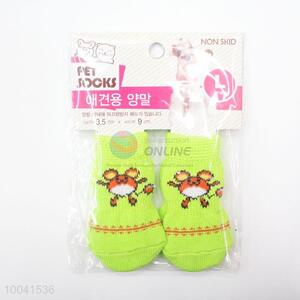 Hotsale 2.5*6CM Light Green Good Quality Basic Pet Socks Dog Socks