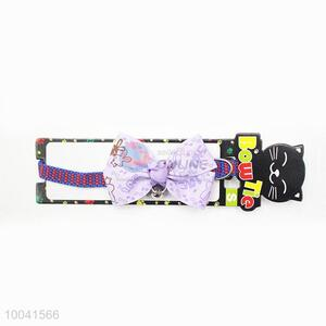 Wholesale Making 19-27CM Double-end Purple Cat Collar or Pet Collar & Poly-cotton