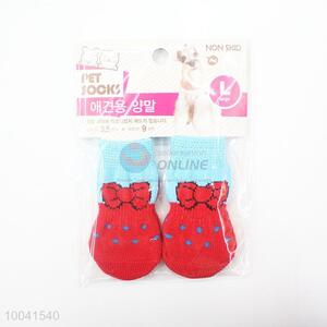 Hotsale 2.5*6CM Red Good Quality Basic Pet Socks Dog Socks