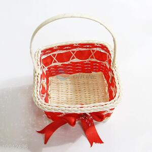 Small Size Square Shape Flower Basket With Handle for holiday