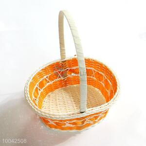 Small size woven flower basket/storage basket with handle