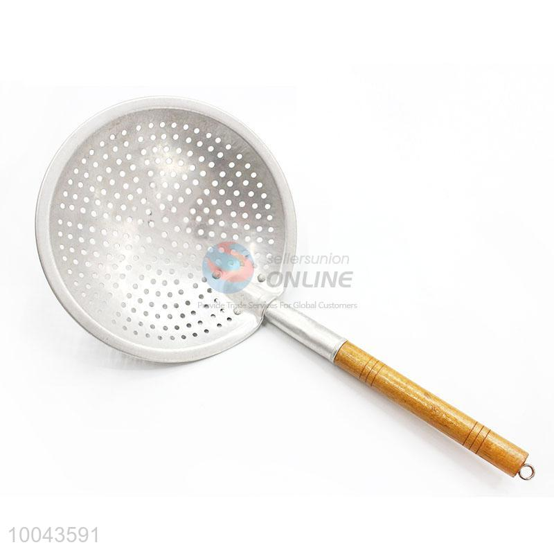 16cm Round Houseware Colander Mesh Sieve Strainer With Wooden Handle Ersunion