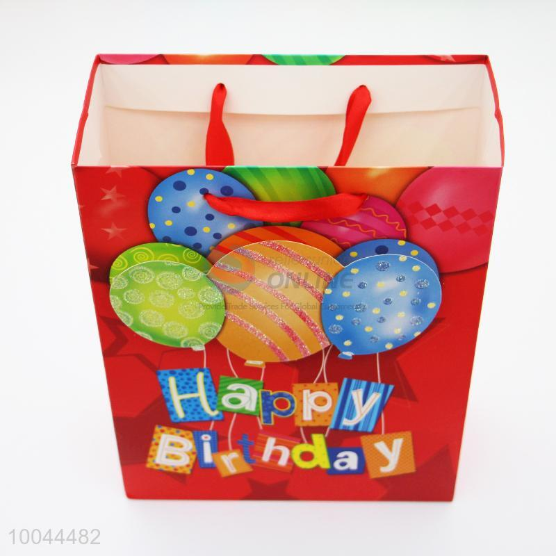 24188cm Happy Birthday Red Gift Bag Packaging