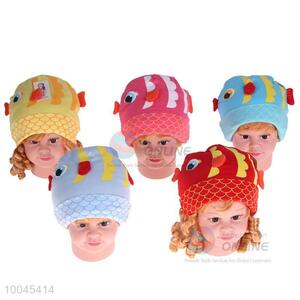 5Colors cute fish pattern baby cap/cotton hat