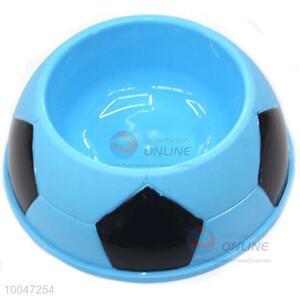 19cm Factory direct round blue plastic marerial pet bowl for sale