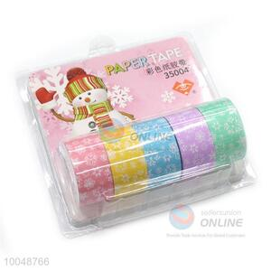 2*500cm Colorful paper tape adhesive tape printed flower