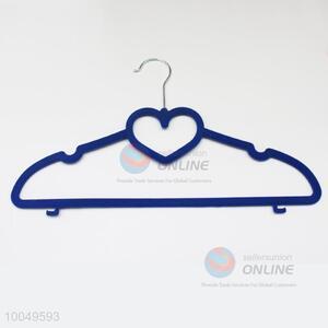 High Quality Dark Blue Flocking Hanger/Clothes Rack