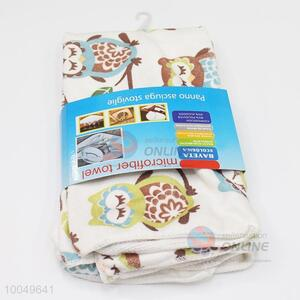 Hot Sale 40*45cm Polyester Cleaning Towel with the Pattern of Owls