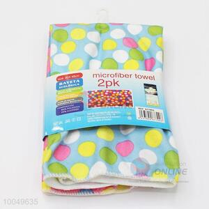 High Quality 40*45cm Polyester Cleaning Towel with the Pattern of Colorful Dots