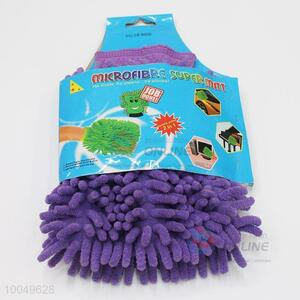 Popular 18*19CM Purple Chenille Super Mitt, Household Cleaning Gloves