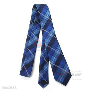 Wholesale high-end printed check pattern polyester silk men tie for sale