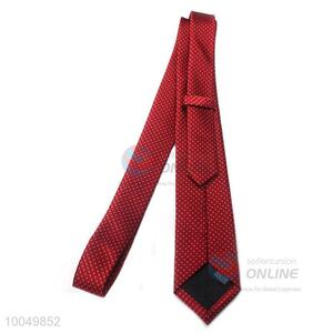 Factory direct noble red polyester printing silk ties for men
