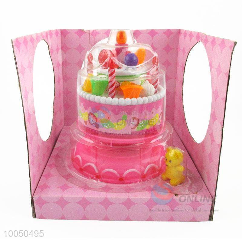 Kids Toy Birthday Cake Simulated With Music