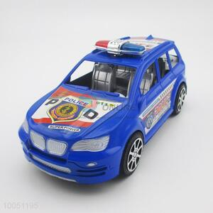 Blue plastic inertia police car toy for kids