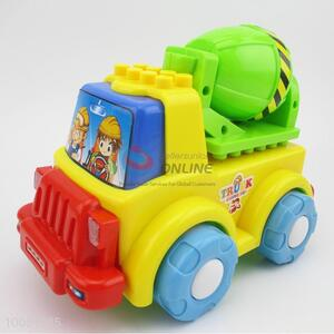 Colourful cement truck model toy for baby