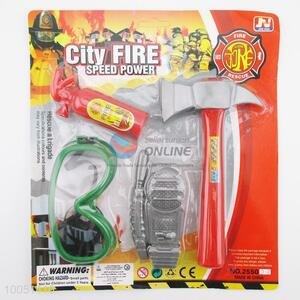 High Quality Plastic Colourful City Fire Tools Set, Game Toys for Children