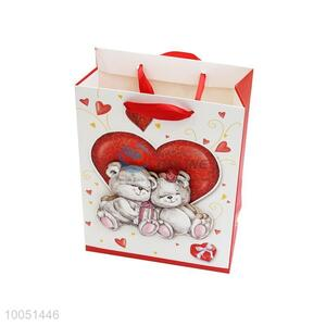 26*32*10cm Bear and Heart Paper Bag/Packaging Bag