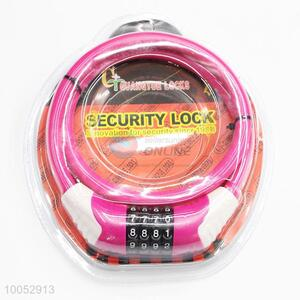Top security 12mm*0.8m bicycle combination lock bike lock plastic steel lock