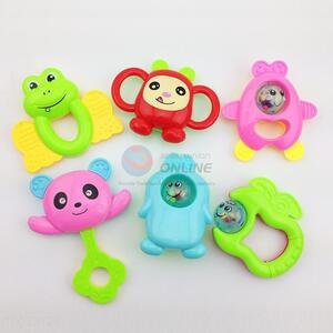 Cute design 6 pieces baby rattles