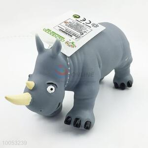 8cun soft rubber material rhinoceros model animal toys for collection