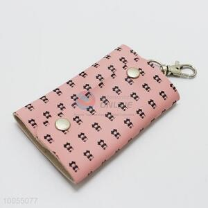 Pink PU leather key case/bag for girl