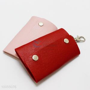 Wholesale red PU leather key bag