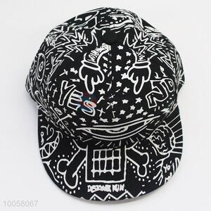 Hot Sale 26*14cm Black&White Cotton Hat with Chicken Tracks