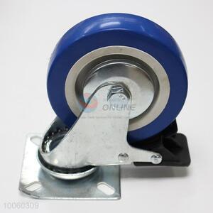3cm blue rubber&iron caster wheel/trolley wheels