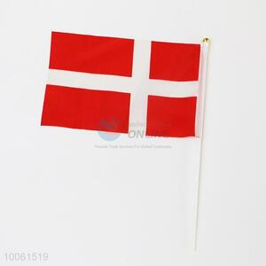 Denmark flag, hand signal flag for festival or party