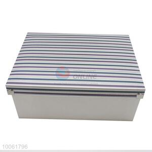 Fashion Color Strip PP Drawer Boxes With Lid
