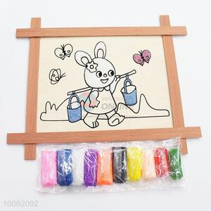 Cute rabiit pattern wooden drawing board/doole board