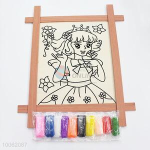 Eco-friendly children princess pattern drawing board