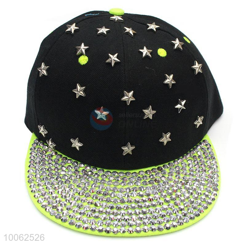 Fashion star diamond-studded peak cap sun-shade hat for sale - Sellersunion  Online adfc7cfb57a