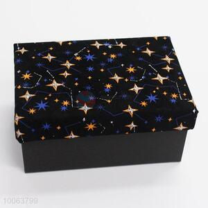 Hot Sale Cuboid Shape Cardboard Gift Boxes with Stars Pattern