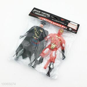 Iron Man and Zorro Super Hero Figure Cartoon Toy with Light