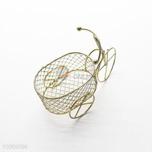 Designer European Style Iron Golden Bicycle Candy Dish