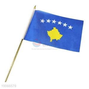 Wholesale Kosovo Flag Signal Flag  Hand Flag without Flagstick