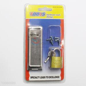 Utility Iron Door Holder with Padlock for Home Use