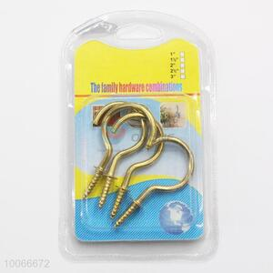 High Quality 5cm Household Utility Screw Hooks, 4 Pieces/Set