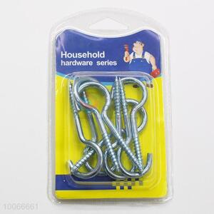 High Quality 6cm Household Utility Screw Hooks, 8 Pieces/Set