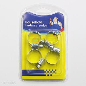 High Quality 2cm Iron Hose Clamps, 4 Pieces/Set
