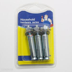 Top Quality 6.2cm Nail Screw Sleeve Anchor in Bolts, 3 Pieces/Set