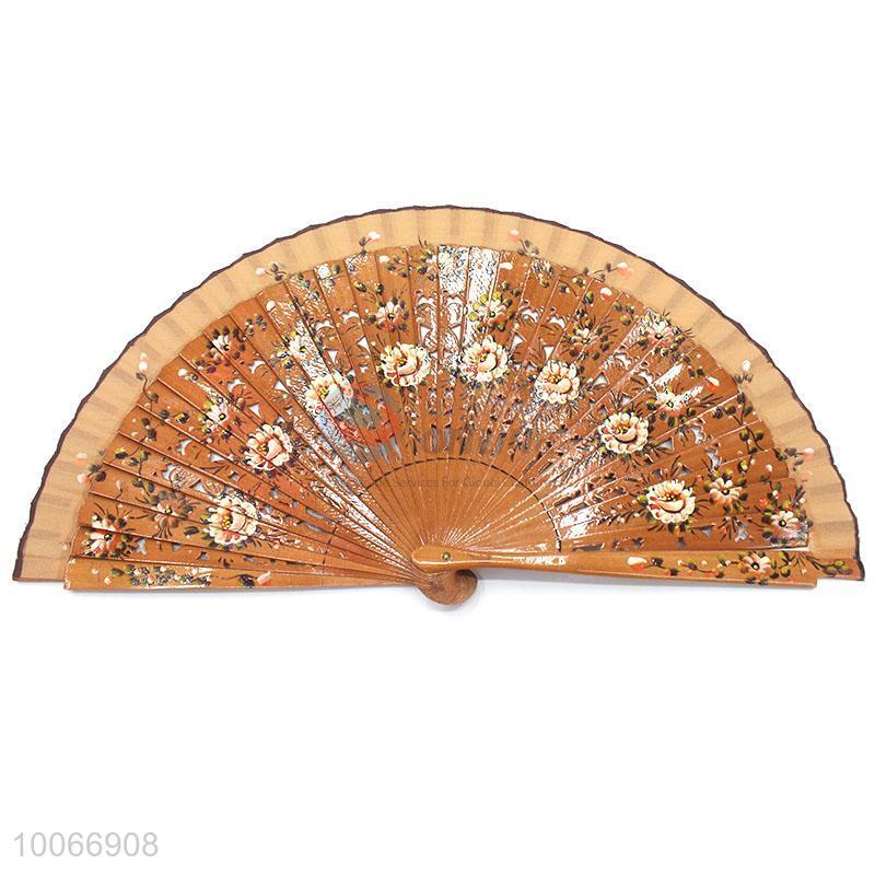 Handheld Folding Hand Fan Wooden Single Face Fan Sellersunion Online